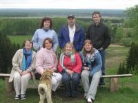 Американские гости на фоне марийской природы