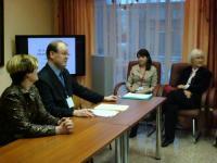 Встреча координатора проектов общества М.Кастрена Т.Хаккарайнен с деятелями культуры в Коми, 2007 г.