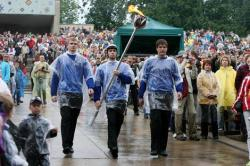 Проливной дождь не помешал проведению Певческого праздника в Тарту