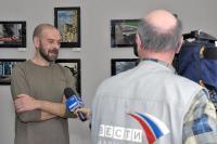 Евгений Рогов дает интервью