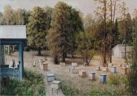 """Пётр Малинин """"Пасека на кочёвке"""", 1999 год."""