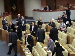 В зале заседаний Госдумы России остались только «единороссы»