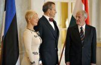 Президент Ильвес с женой и президента Венгрии