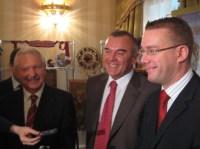 Глава Коми В.Торлопов, Юрий Шубин и Стефан Валлин. Фото: ИА «КомиОнлайн»