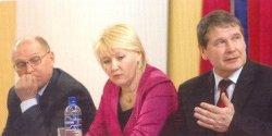 Члены Всемарийского совета (слева направо) Михаил Васютин, Лариса Яковлева и Валерий Мочаев. Фото: Марийский мир