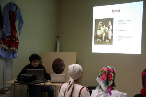 Васли Николаев прочитал доклад о мари и Марий Эл