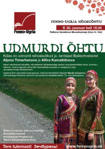 Плакат удмуртского вечера в Таллинне. Фото: Fenno-Ugria