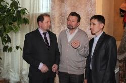 Создатели хового марийского фильма (слева направо): Олег Иркабаев, Геннадий Гордее, Николай Мамаев