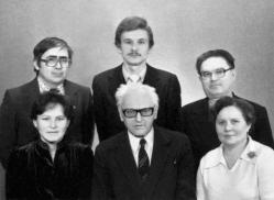 А.Китиков среди аспирантов П.Аристе в Тарту
