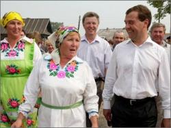 Медведев в Марий Эл, август 2010 г.