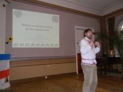 Джереми Брэдли рассказывает о словаре в Тарту, апрель 2014 г.