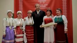 Президент с гостями из России. Фото:  err.ee