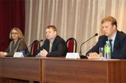 Л.Маркелов (в середине) и П.Плотников (справа)