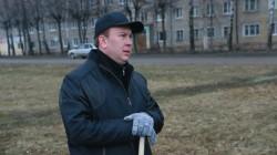 П.Плотников на субботнике