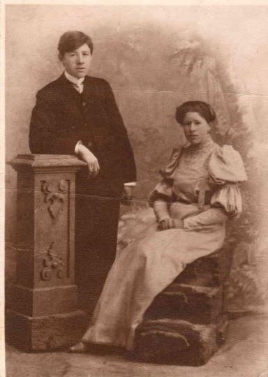 На фото - Ефим Шелепов с женой Прасковьей