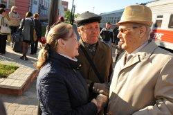 З.Дудина и В.Шапкин встречают А.Эшпая