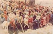 На моление в Олорах собралось около 1000 чел.
