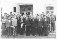 Йошкар-Ола, март 1991 г. члены «Марий ушема» и марийская общественность после встречи с финской писательницей Леэной Лаулаяйнен и В.Аликовым.