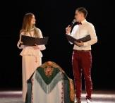 Ведущие вечера Людмила Алексеева и Юрий УГагарин